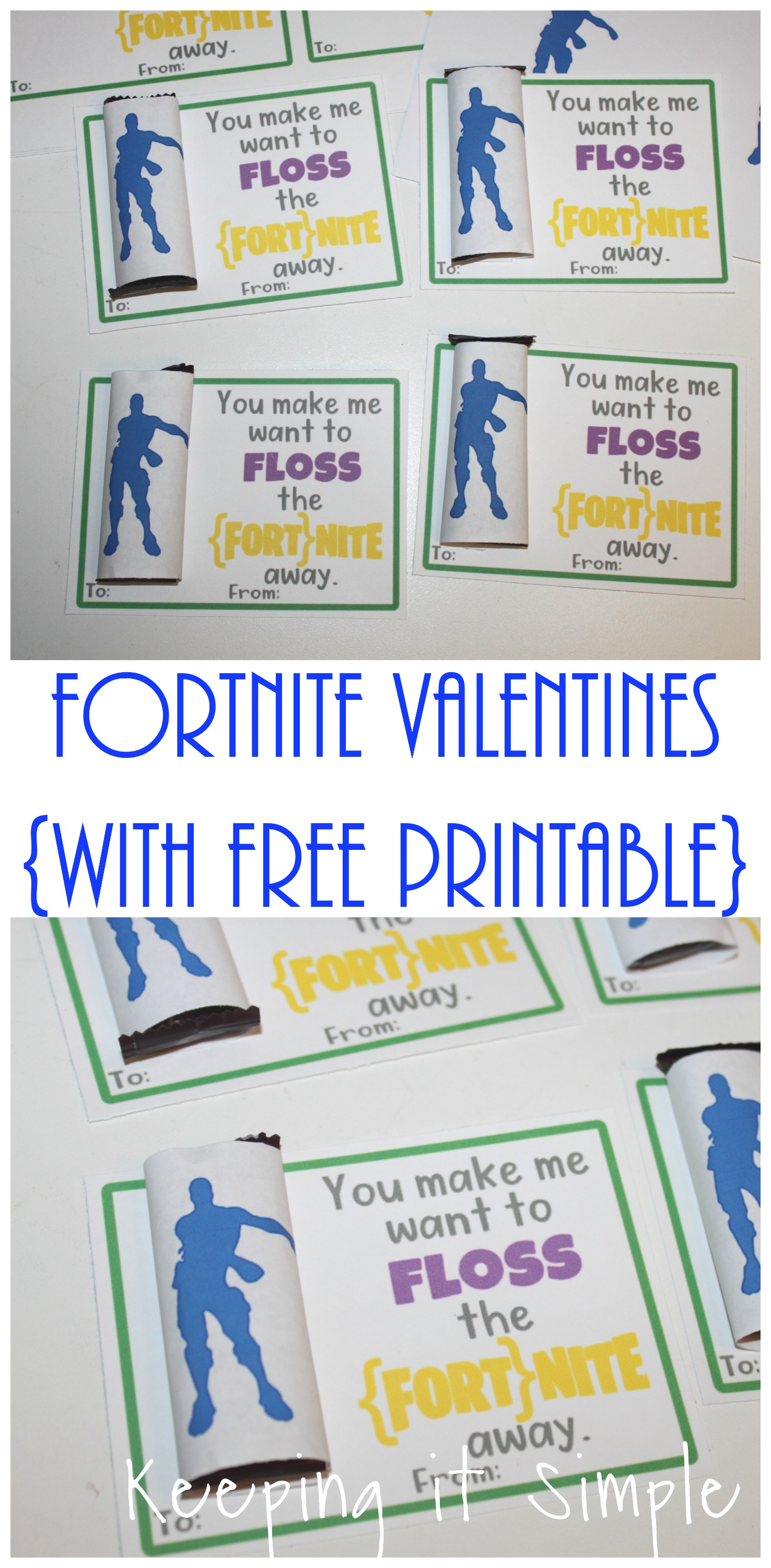 graphic about Free Fortnite Printable Labels called Selfmade Fortnite Valentines with Totally free Printable Retaining