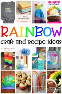 Rainbow Crafts, Recipes and Ideas {MMM #469}
