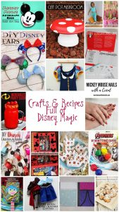 Disney Themed Crafts and Recipes {MMM #478 Block Party}