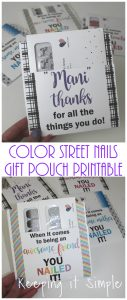 Color Street New Packaging Gift Pouch for Teachers, Friends and Mother's Day