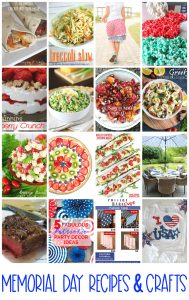 Memorial Day Recipes and Crafts {MMM #481 Block Party}