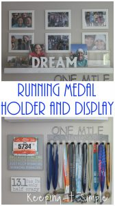 Running Medal Holder with Display Shelf
