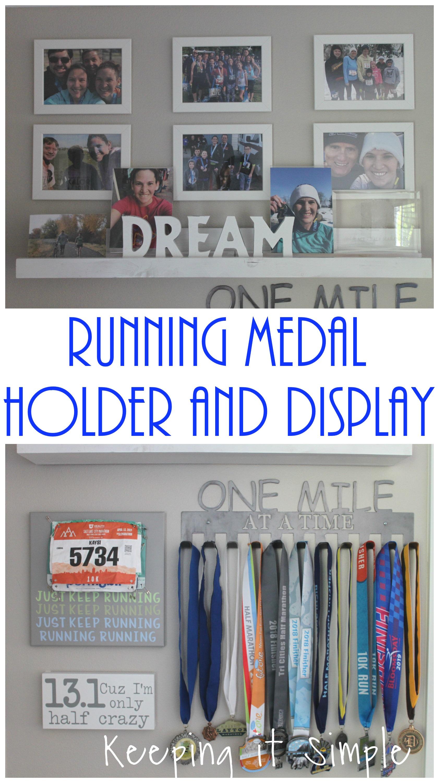 Running Medal Holder With Display Shelf