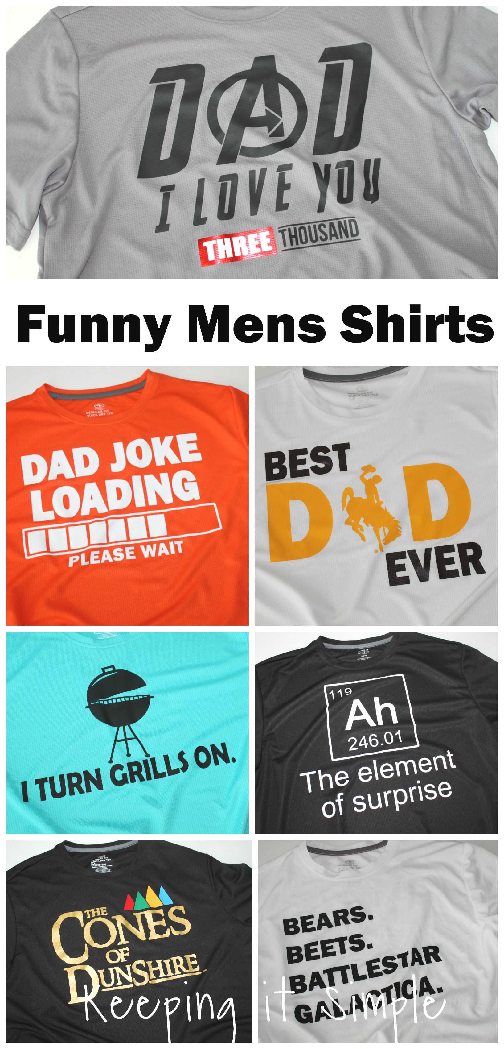 Funny Mens Shirts {Father's Day Shirts} • Keeping it Simple