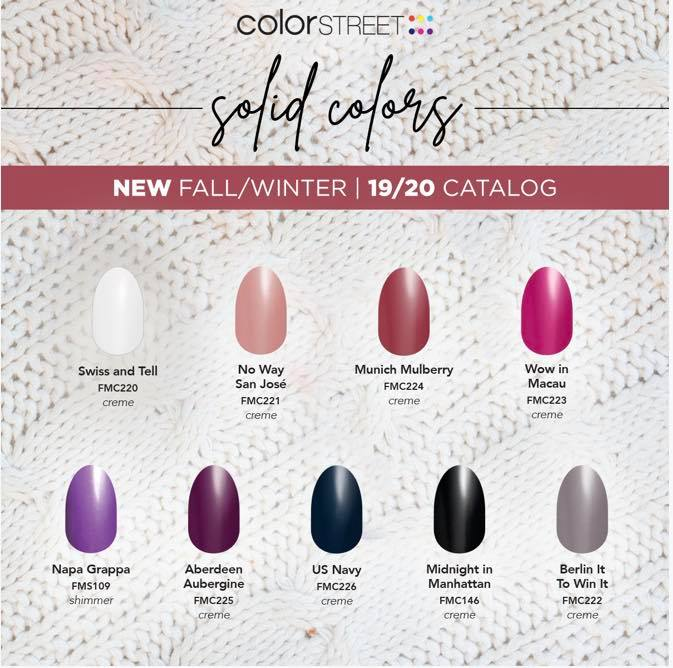 Color Street Halloween 2020.Color Street Fall 2019 Catalog Keeping It Simple