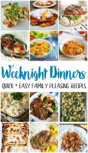 Weeknight Dinners {MMM #495 Block Party}