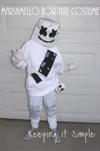 Last Minute DIY Marshmello Fortnite Costume