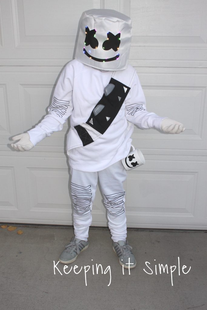 Last Minute DIY Marshmello Fortnite Costume • Keeping it ...