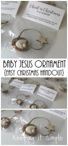Baby Jesus Walnut Ornament- Easy Christmas Handout