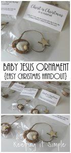 Baby Jesus Walnut Ornament- Easy Christmas Handout