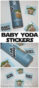 Cute Baby Yoda Sticker