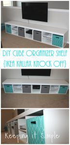 DIY Cube Organizer Shelf- IKEA Kallax Knock Off