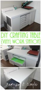 DIY Crafting Table {Vinyl Work Station}