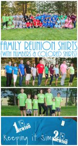 Family Reunions Shirts with Numbers