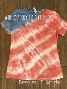 4th of July Tie Dye Shirts