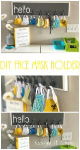 DIY Face Mask Holder and Organizer