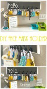 DIY Face Mask Holder and Organizer