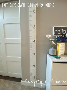 DIY Growth Chart Board