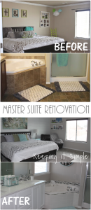 Master Suite Renovation with Gray and White Color Scheme