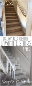 How to Install Gray Laminate Stairs with White Risers