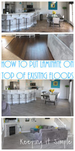 How to Put Laminate Floors on Top of an Existing Floor